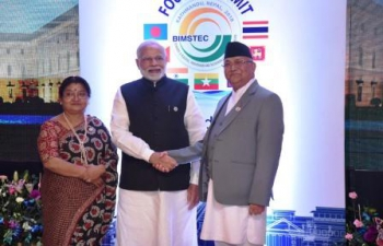 Prime Minister meets K.P. Sharma Oli, Prime Minister of Nepal on the sidelines of BIMSTEC Summit