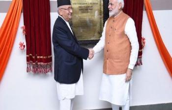 Inauguration of Nepal-Bharat Maitri Pashupati Dharmashala.
