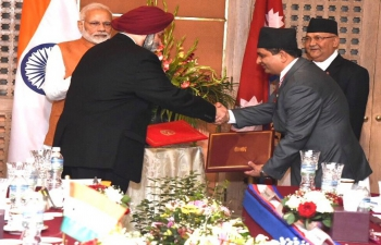 MoU signed between India and Nepal on Preliminary Engineering-cum-Traffic Survey of Raxaul (India) -Kathmandu (Nepal) rail line.