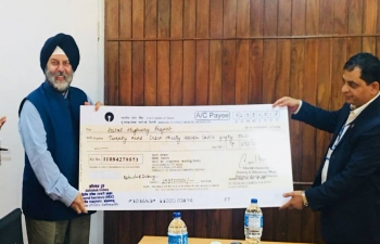 India releases NPR 470 million to government of Nepal for Postal Highway Project.