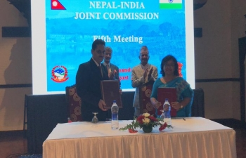 An MoU between Food Safety and Standards Authority of India (FSSAI) & DFTQC Nepal signed on food safety & standards.
