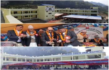 India Builds Tribhuvan Adarsha Multiple Campus & Shree Bhu. Pu. Sainik Community Academy in Syangja District