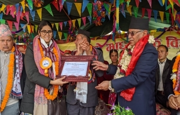 India Builds Secondary School in Nuwakot District