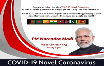 Together for the region and the Earth.  #TogetherAgainstCovid19. People in SAARC countries will tune in to watch their Leaders discuss strategy to fight COVID-19. 15 March 2020 @ 1700 hrs IST