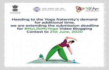My Life – My Yoga Video Blogging Contest-The last date for submitting your entry for #MyLifeMyYoga video blogging contest has been extended to the 21st of June 2020.
