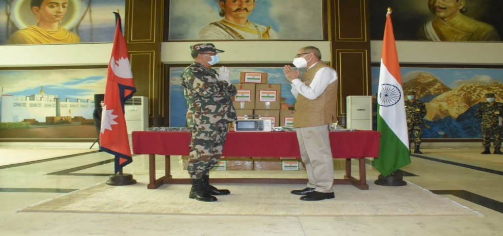 TEN ICU VENTILATORS GIFTED TO NEPALI ARMY on 9th August 2020