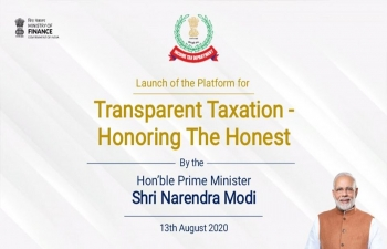 "Prime Minister Shri Narendra Modi launches platform for ""Transparent Taxation - Honoring the Honest"