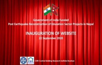 In a virtual launch ceremony today, Amb. Kwatra and Mr. Sushil Gyewali, CEO NRA jointly unveiled a dedicated website on GOI assisted post-earthquake reconstruction projects in the education sector in Nepal.