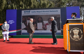 Launch of 'Sampark-India Nepal Alumni Network' on the occasion of 72nd Republic Day of India on 26th January 2021