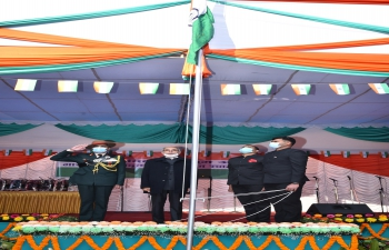 Flag hoisting ceremony on the occasion of 72nd Republic day of India on 26th January 2021
