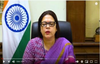 विदेश राज्य मंत्री श्रीमती मीनाक्षी लेखी जी का हिन्दी दिवस के अवसर पर समस्त जन को संदेश